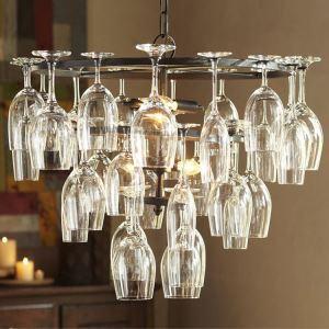 ペンダントライト 照明器具 リビング照明 店舗照明 ワイングラス 北欧風 6灯(杯なし)