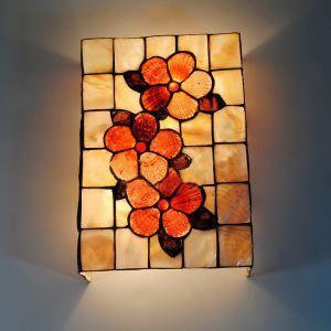 ティファニーライト 壁掛け照明 壁掛けライト ステンドグラス製照明 2灯