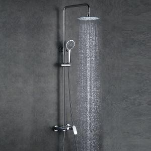 レインシャワーシステム シャワーバス ヘッドシャワー+ハンドシャワー+蛇口 混合栓 クロム 017