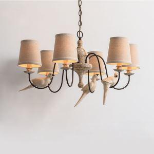 シャンデリア 天井照明 レトロな照明器具 カントリー 6灯