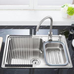 キッチンシンク(蛇口なし) 台所の流し台 #304ステンレス製流し台 S6845