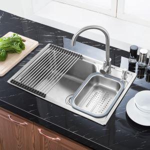 キッチンシンク(蛇口なし) 台所の流し台 #304ステンレス製流し台 S7245