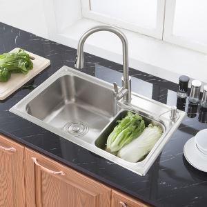 キッチンシンク(蛇口なし) 台所の流し台 #304ステンレス製流し台 S7845