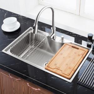 キッチンシンク(蛇口なし) 台所の流し台 #304ステンレス製流し台 MF7848B