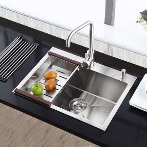 キッチン用流し台(蛇口なし) 台所の流し台 キッチンシンク 手作り #304ステンレス製流し台 HM6545