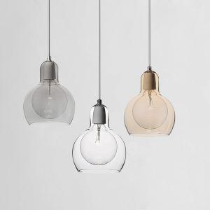 ペンダントライト ガラス製照明 天井照明 インテリア照明 1灯 3色 MS89229