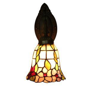 ステンドグラスランプ 壁掛け照明 ティファニーライト ブラケット 玄関照明 照明器具 1灯 6in WL004