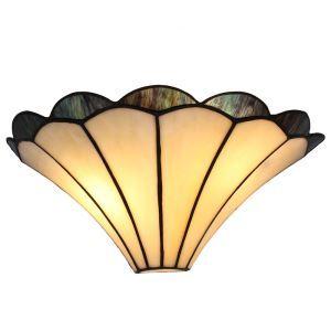 ステンドグラスランプ 壁掛け照明 ティファニーライト ブラケット 玄関照明 照明器具 1灯 14in WL100