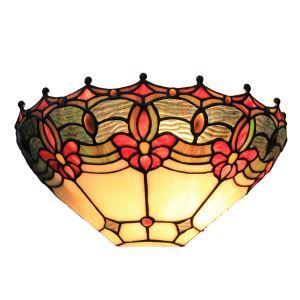ステンドグラスランプ 壁掛け照明 ティファニーライト ブラケット 玄関照明 照明器具 1灯 12in WL119