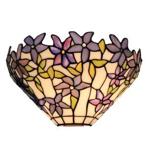 ステンドグラスランプ 壁掛け照明 ティファニーライト ブラケット 玄関照明 アラセイトウ 1灯 12in WL122