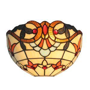 ステンドグラスランプ 壁掛け照明 ティファニーライト ブラケット 玄関照明 照明器具 1灯 12in WL126