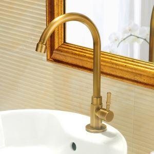 洗面蛇口 バス水栓 浴室蛇口 単水栓 真鍮製 ブロンズ色 FTTB076