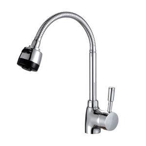 キッチン水栓 台所蛇口 冷熱混合水栓 水道金具 360°回転 クロム FTTB078