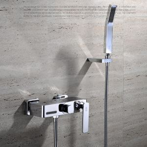 シャワー水栓 ハンドシャワー バス水栓 混合栓 蛇口付き 水道金具 風呂用 FTTB024