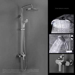 レインシャワーシステム シャワーバー ヘッドシャワー+ハンドシャワー バス水栓 FTTB037