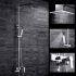 レインシャワーシステム シャワーバー ヘッドシャワー+ハンドシャワー+蛇口 バス水栓 FTTB040