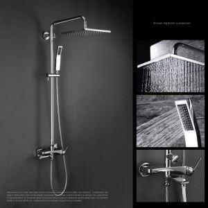レインシャワーシステム シャワーバー ヘッドシャワー+ハンドシャワー+蛇口 バス水栓 FTTB041