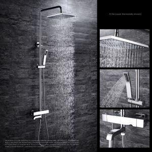 レインシャワーシステム シャワーバー ヘッドシャワー+ハンドシャワー+蛇口 バス水栓 FTTB046