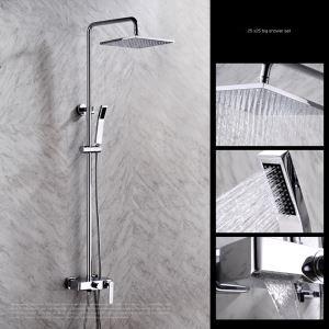 レインシャワーシステム シャワーバー ヘッドシャワー+ハンドシャワー+蛇口 バス水栓 FTTB047