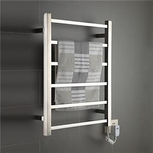 壁掛けタオルウォーマー 室内ヒーター タオルハンガー+簡易乾燥 ステンレス鋼 クロム 60W