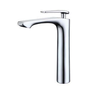 洗面蛇口 バス水栓 浴室蛇口 冷熱混合水栓 水道金具 H265mm クロム PVD038