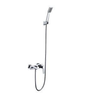 シャワー水栓 バス蛇口 ハンドシャワー 水栓金具 混合栓 風呂用 クロム PVD044