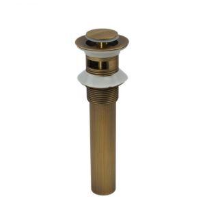 横穴付き排水金具 排水ドレイン マッシュルーム・プッシュ式 ドレンユニット32ミリ ブロンズ 0567-HY-1039