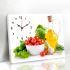壁時計 壁絵画時計 静音時計 壁掛け時計 オシャレ 1枚パネル 野菜