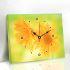 壁掛け時計 絵画時計 アート時計 静音 オシャレ 1枚パネル ひまわり