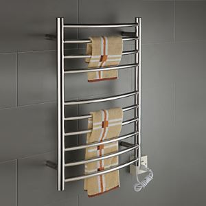 壁掛けタオルウォーマー 室内ヒーター タオルハンガー+簡易乾燥 ステンレス鋼 85W