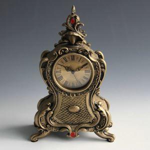 置き時計 静音時計 目覚まし時計 アンティーク風