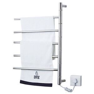 壁掛けタオルウォーマー 室内ヒーター タオルハンガー+簡易乾燥 ステンレス鋼 180°回転可能 50W
