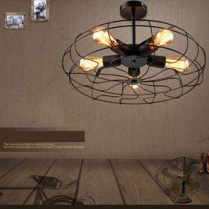 シーリングライト 照明器具 天井照明 店舗照明 アイアン照明 ロフト工業風 ヴィンテージ 5灯
