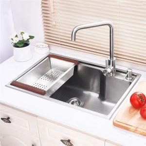 キッチン用流し台(蛇口なし) 台所の流し台 手作りシンク #304ステンレス製流し台 HM5843L