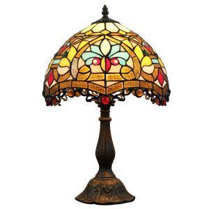 テーブルランプ ティファニーライト ステンドグラスランプ 卓上照明 寝室スタンド 12in TL077