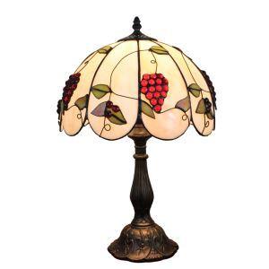テーブルランプ ティファニーライト ステンドグラスランプ 卓上照明 寝室スタンド ブドウ 12in TL132