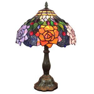 テーブルランプ ティファニーライト ステンドグラスランプ 卓上照明 寝室スタンド 12in TL164
