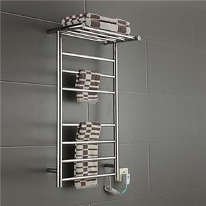 壁掛けタオルウォーマー 室内ヒーター タオルハンガー+簡易乾燥 ステンレス鋼 タオルラック付 60W