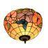 シーリングライト ティファニーライト ステンドグラス照明 玄関照明 蝶&花 D30cm LTFM032