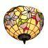 シーリングライト ティファニーライト ステンドグラス照明 玄関照明 花柄 D30cm LTFM037