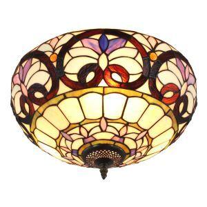 シーリングライト ティファニーライト ステンドグラス照明 玄関照明 D40cm LTFM059