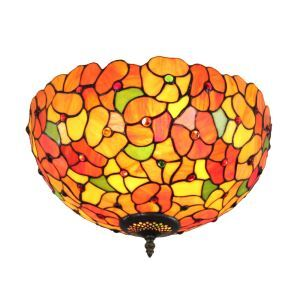 シーリングライト ティファニーライト ステンドグラス照明 玄関照明 小花 D30cm LTFM066