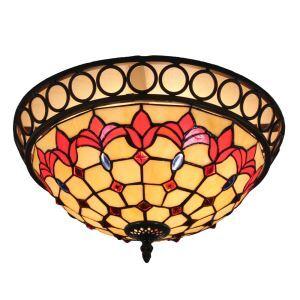 シーリングライト ティファニーライト ステンドグラス照明 玄関照明 D30cm LTFM071