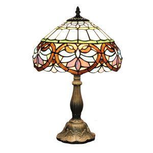 テーブルランプ ティファニーライト ステンドグラスランプ 卓上照明 傘型 1灯 D30cm LTTL114
