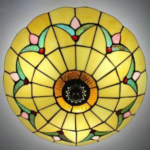 ティファニーライト シーリングライト ステンドグラス 天井照明 D25cm 2灯 BEH404205