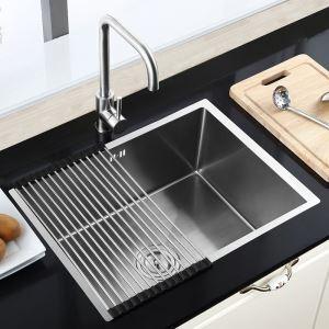 キッチン用流し台(蛇口なし) 台所の流し台 手作りシンク #304ステンレス製流し台 HM6045