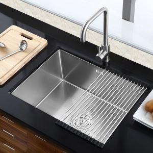 キッチン用流し台(蛇口なし) 台所の流し台 手作りシンク #304ステンレス製流し台 HM5040