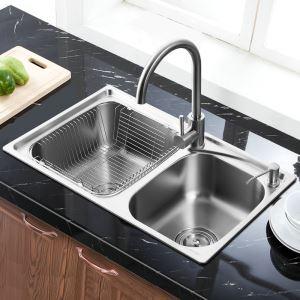 キッチン用流し台(蛇口なし) キッチンシンク 台所の流し台 #304ステンレス製流し台 AOM6640