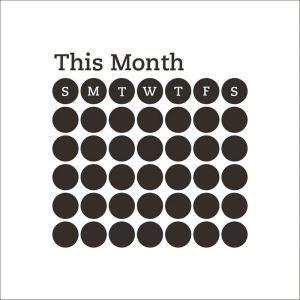 ウォールステッカー 転写式ステッカー PVCシール シート 剥がせる 時期 month ZY214