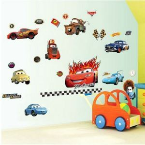 3Dウォールステッカー 立体DIY 転写式ステッカー PVCシール シート 剥がせる カーズ/Cars ZYPB8091XY